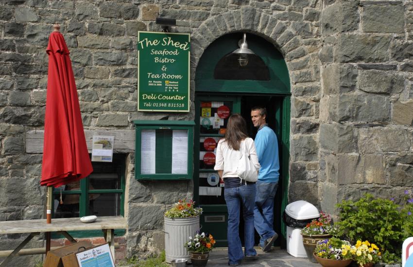 Shed Bistro, Porthgain - an award winning restaurant