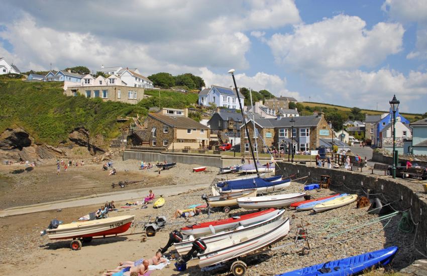 Little Haven is a picturesque coastal village