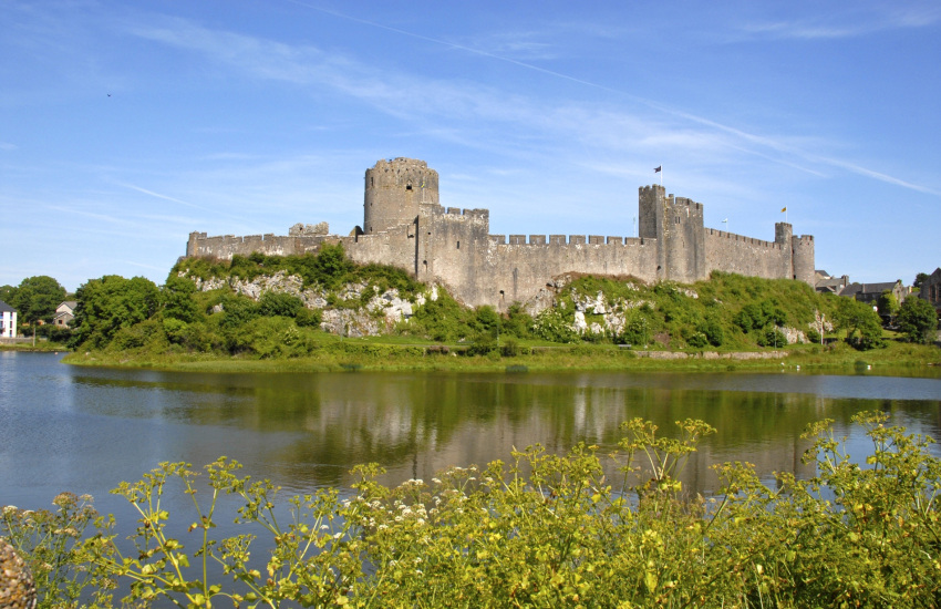 Carew Castle and magnificent Pembroke Castle
