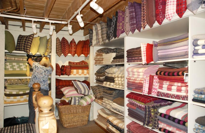 Melin Tregwynt woollen mill produce luxurious soft woollen furnishings