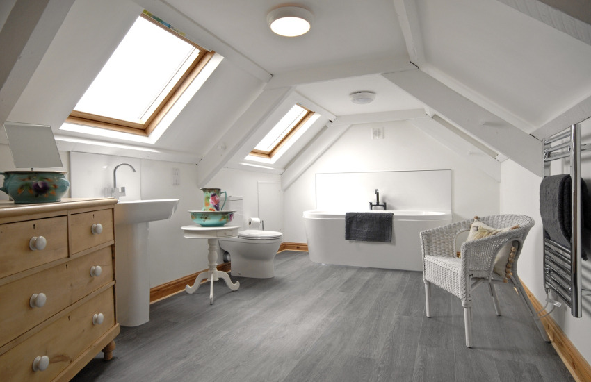 First floor luxury bathroom opposite the master bedroom