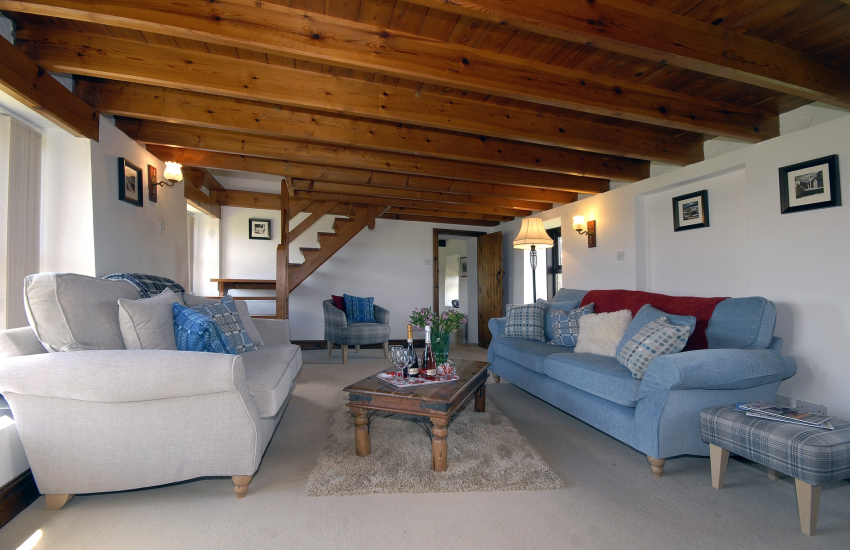 North Pembrokeshire stone barn conversion - living room