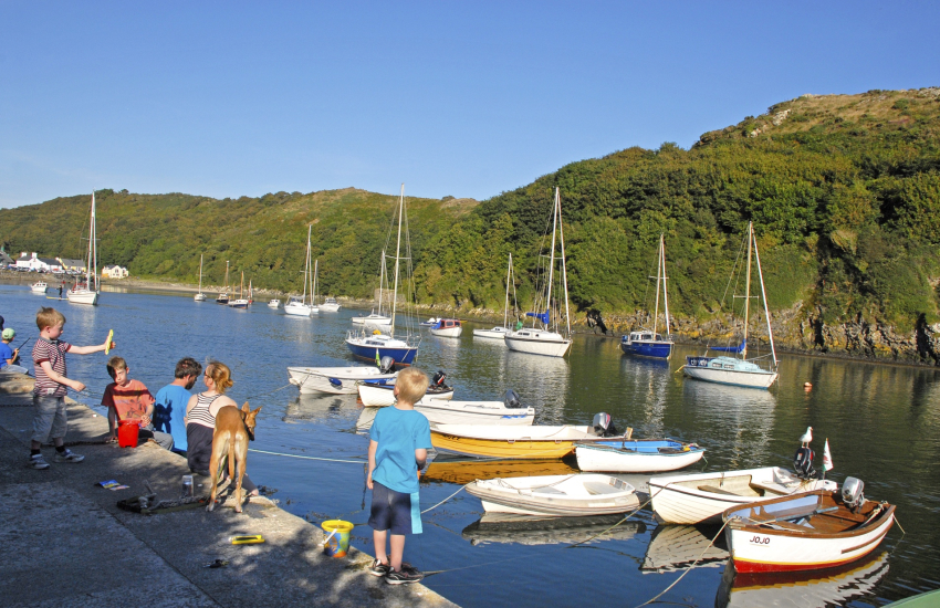 Solva Harbour at high tide - a great spot for 'crabbing'