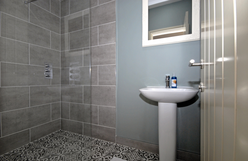 Ground floor king size en suite shower room
