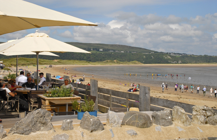 The Beach House overlooking Oxwich Bay