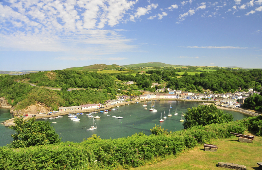 Fishguard Marine Walk harbour at Lower Town