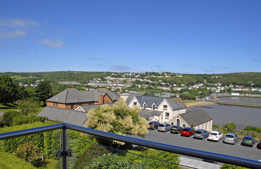 Enjoy ever changing views over Goodwick and the harbour from the living room