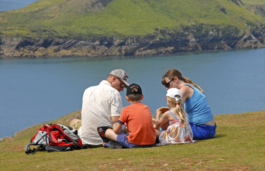 Pembrokeshire coast - a lovely spot for picnics