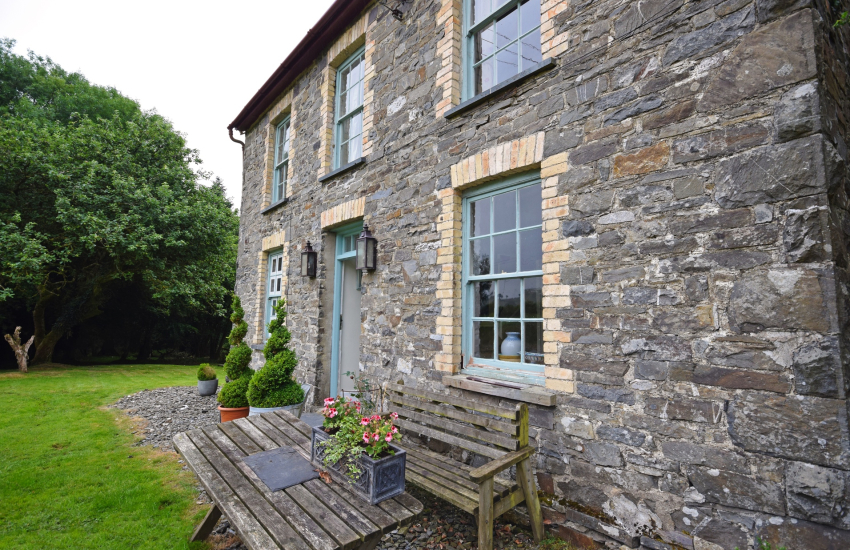 Gower coast cottage exterior