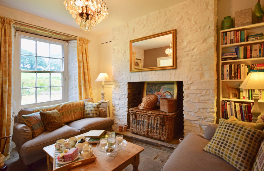 Pet friendly cottage Gower lounge