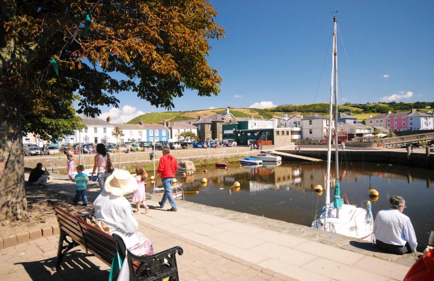 Aberaeron's sheltered inner harbour