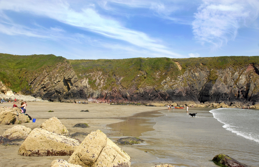 Caerfai Bay, St Davids is a beautiful sandy cove