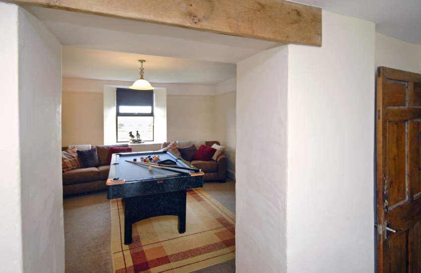Archway links the games room with the dining area