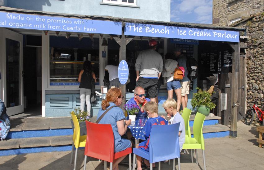 Gianni's fabulous artisan ice cream St Davids