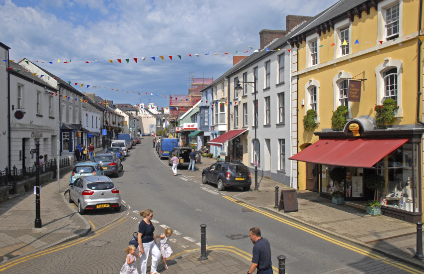 The bustling market town of Narberth