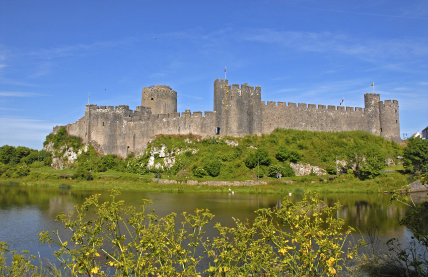 Pembroke Castle, birthplace of of Henry VII