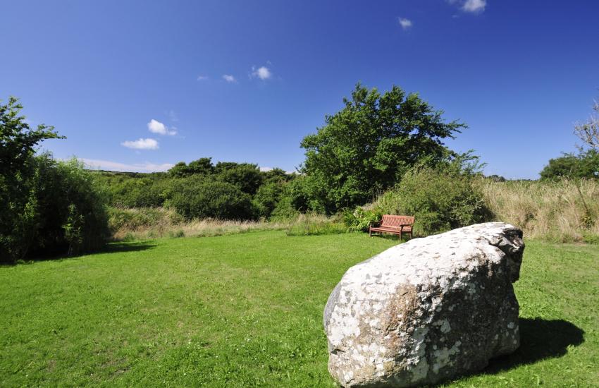 Cottage holiday garden Pembrokeshire
