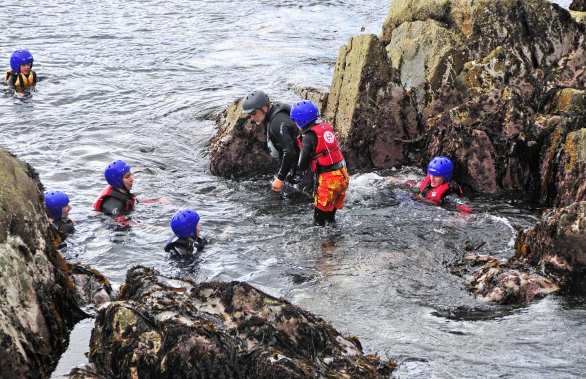 Pembrokeshire activities caving and coasteering
