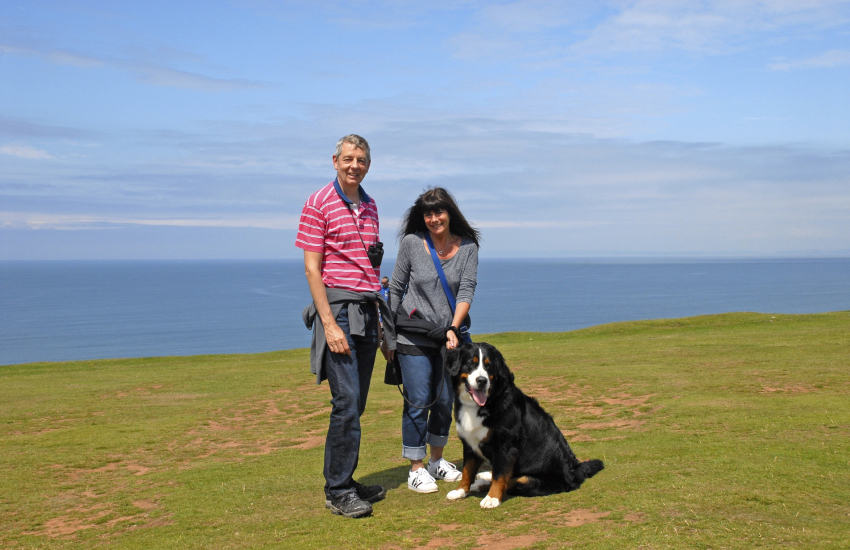 Enjoying the Gower coast