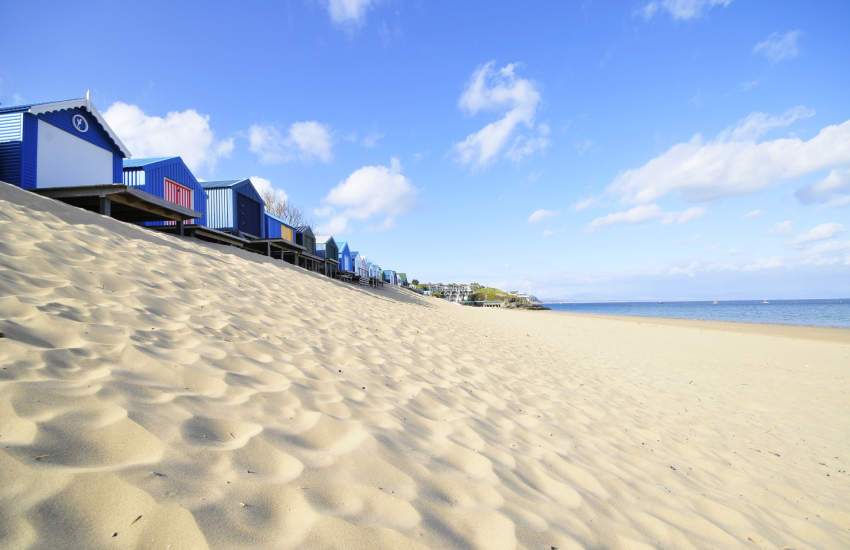 Abersoch beach stretches for miles