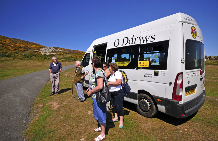 Mini bus which runs Llyn Peninsula