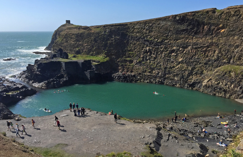 Abereiddy and the famous Blue Lagoon
