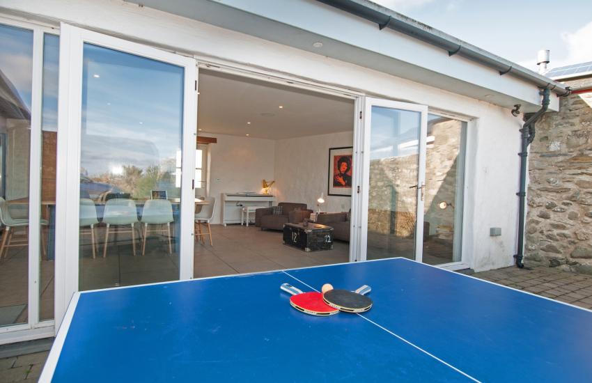 Outside table tennis Pembrokeshire