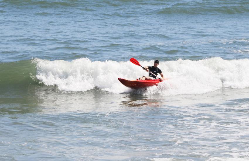 More adventurous of you - try coasteering or sea kayaking in the waves