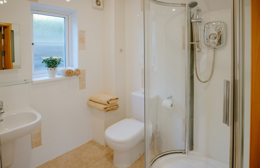 Cottage holiday by the sea-shower room