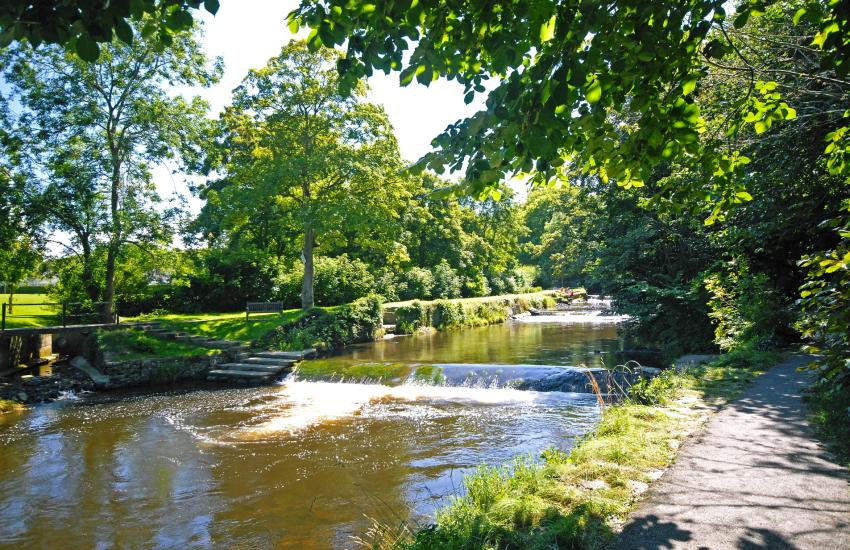 'Lovers Walk' which runs beside the River Aeron