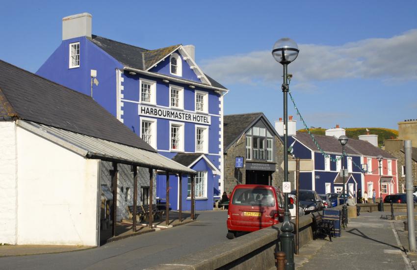 The award winning Harbourmaster Hotel, Aberaeron