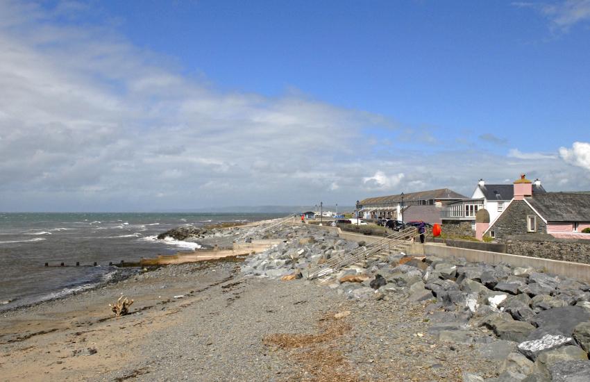 North Beach, Aberaeron rock pools at low tide