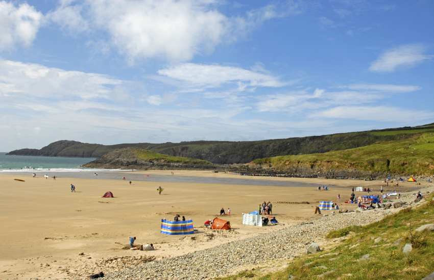 Whitesands Beach (Blue Flag) is one of the best surfing beaches Pembrokeshire