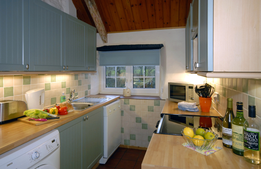 Self catering cottage near St Davids - galley farmhouse kitchen