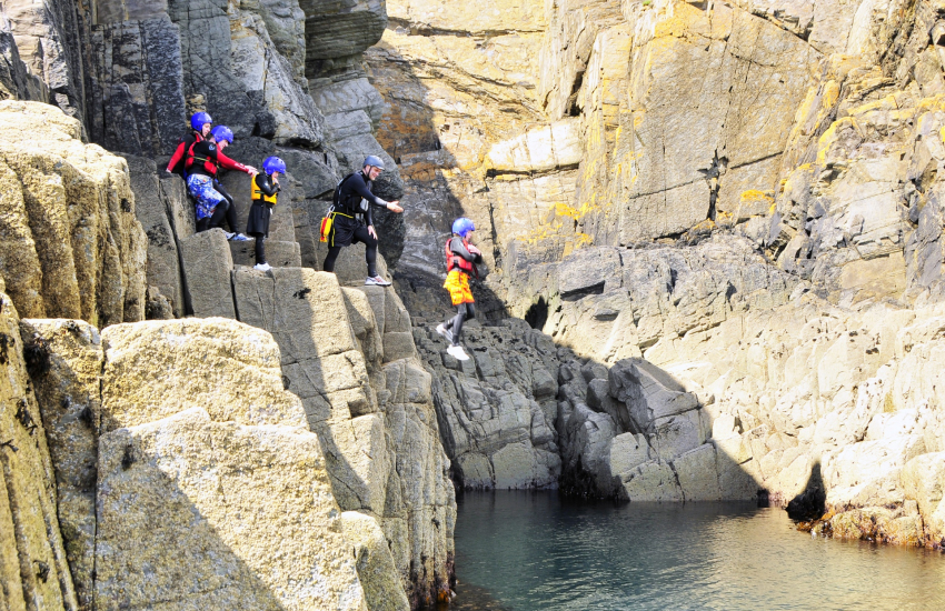 Coasteering trips available along the North Pembrokeshire coast