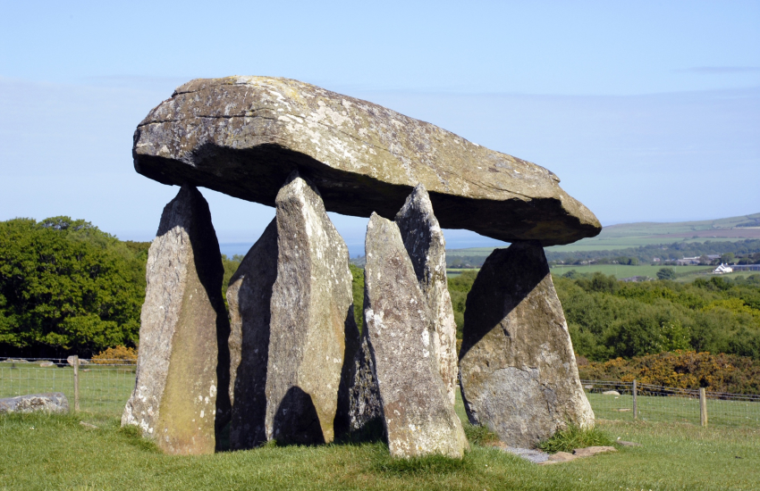 Pentre Ifan in the Preseli Hills is a Neolithic burial chamber
