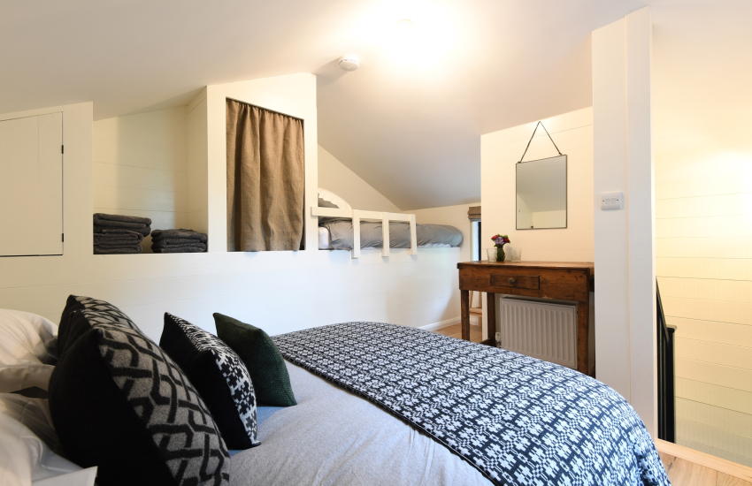 Heritage Coast holiday - double bed with single bunk