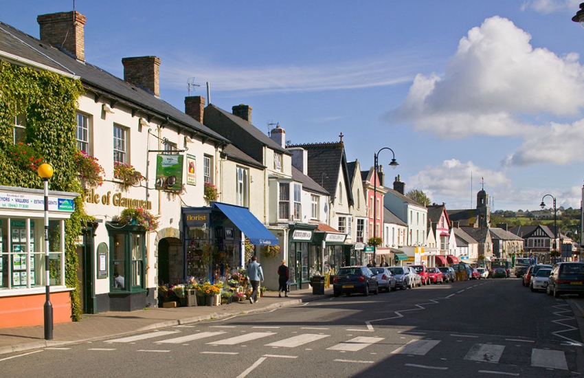 Cowbridge with its boutique shops