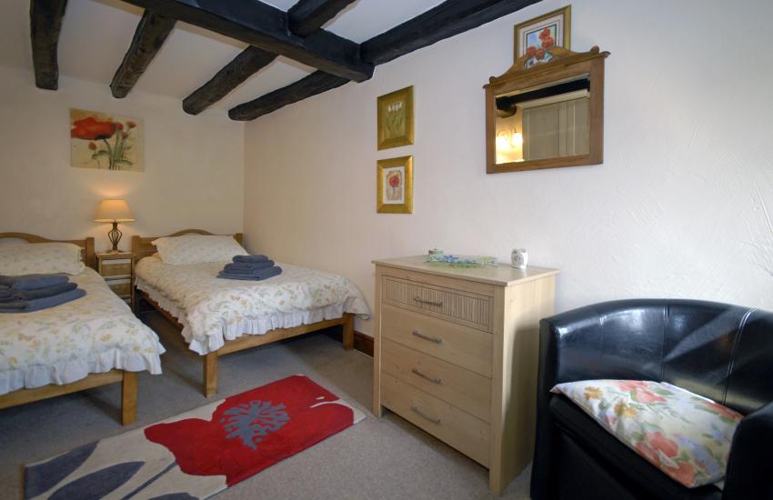 Cardigan Bay holiday cottage sleeps 4 - ground floor twin