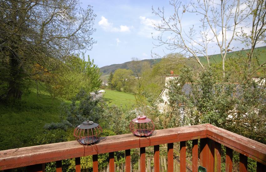 Cwm Tydu Valley views from the deck at Cwm Bach