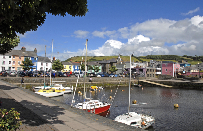 Aberaeron is a lovely Georgian harbour town with boutiques