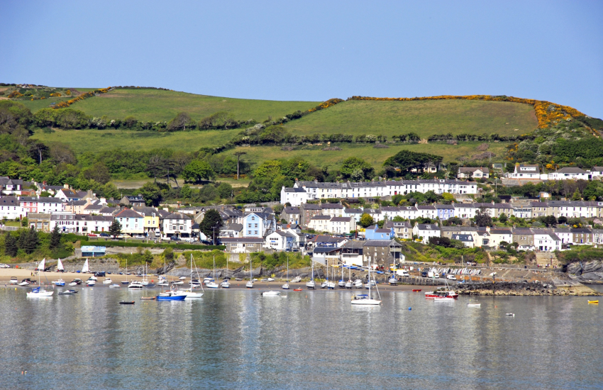 New Quay is a small vibrant seaside town