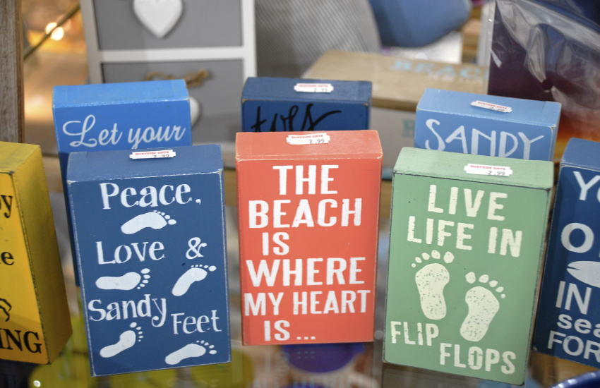 New Quay has plenty of little gift shops