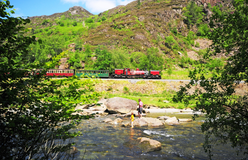 The Welsh Highland railway Aberglasllyn gorge