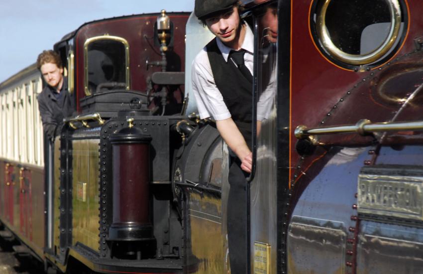 Ffestiniog Steam Railway between Porthmadog and Bleanau Ffestiniog