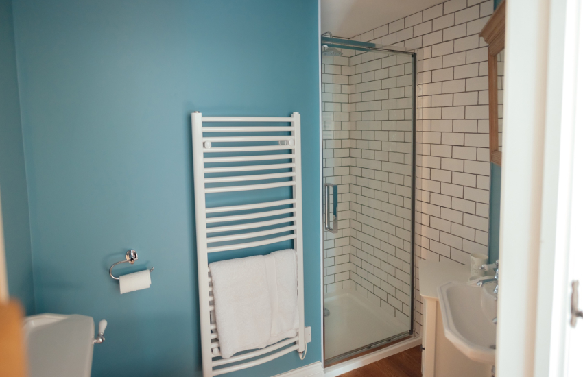 Langland Bay a short drive from holiday cottage-shower room