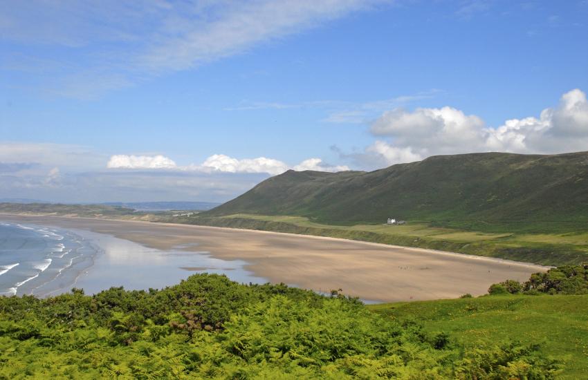 Rhosilli Beach Britain's best beaches stretches for 3 miles