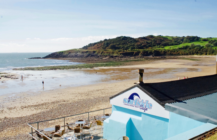 Langland Bay Cafe excellent place for breakfast