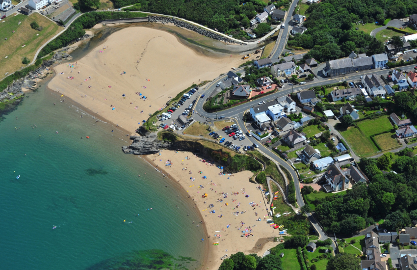 Aberporth has two fabulous beaches