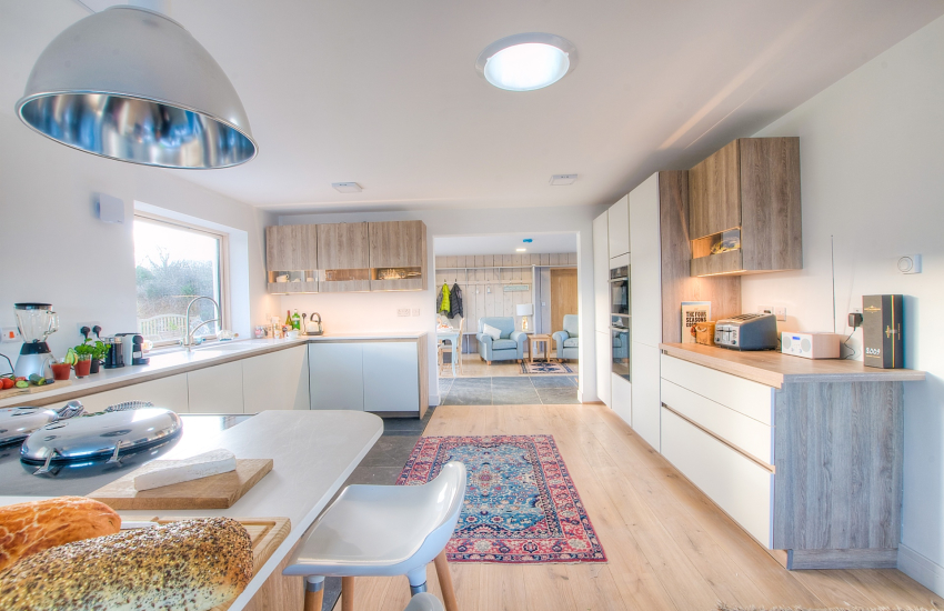 Pet friendly cottage with hot tub Wales - kitchen